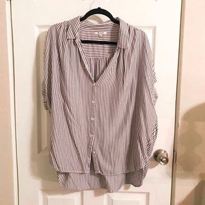 Madewell Striped Button Up